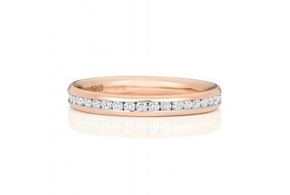 9ct Rose Gold Diamond Full Eternity Ring